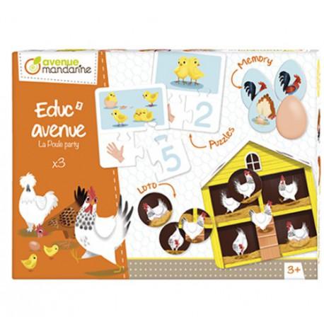 Educ'Avenue : la poule party