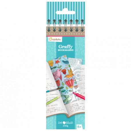 Graffy Bookmark : mandala fleurs