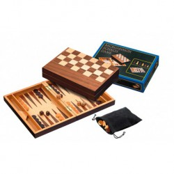 Coffret dames-échec-backgammon
