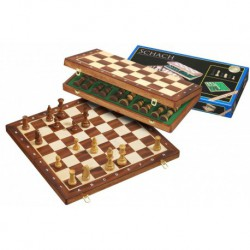 Coffret deluxe dames-échec-backgammon