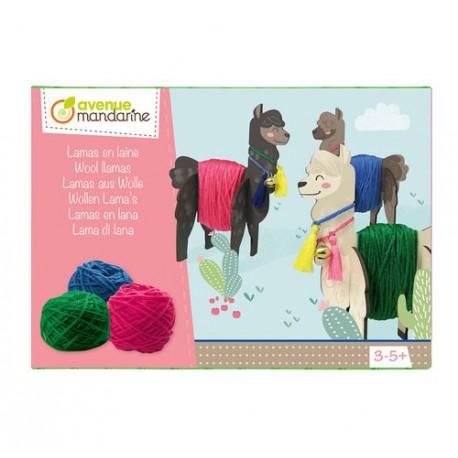 Boîte créative : lamas en laine