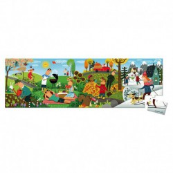 Puzzle panoramique : 4 saisons