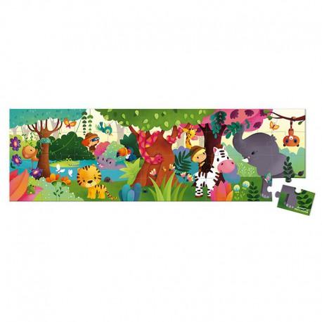 Puzzle panoramique : jungle