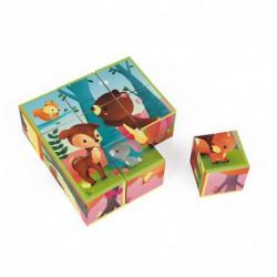 9 cubes : animaux de la forêt