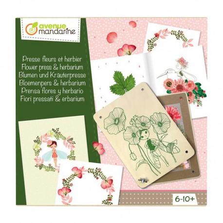 Boîte créative : presse fleurs et herbier