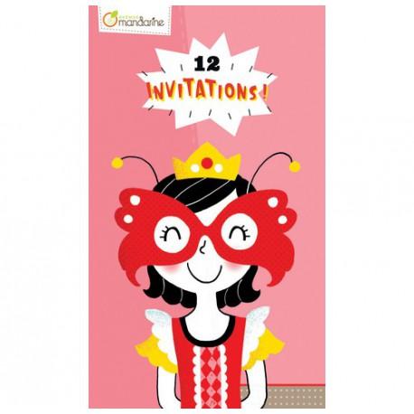Cartes d'invitation : princesses