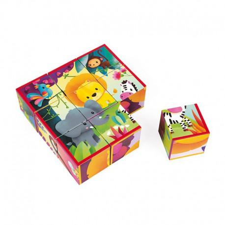 9 cubes : animaux de la jungle