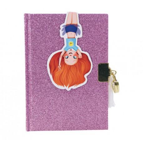Journal intime pailleté : violet