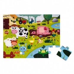 Puzzle tactile : les animaux de la ferme