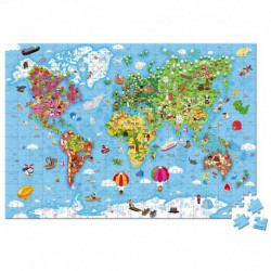 Puzzle géant : carte du monde
