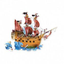 Puzzle géant : le bateau de pirates