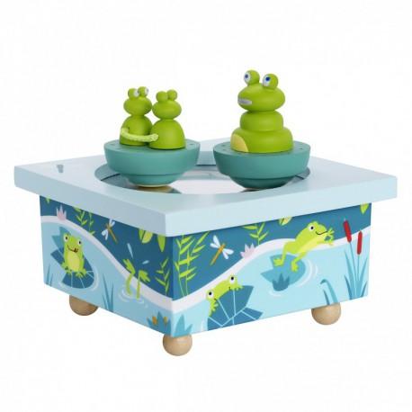 Boîte à musique : dancing grenouille
