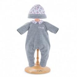 Pyjama panda party pour poupon 30 cm