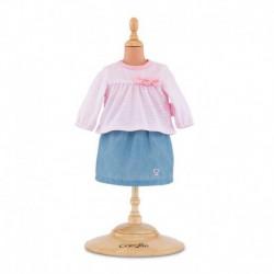 Top et jupe pour bébé 30 cm