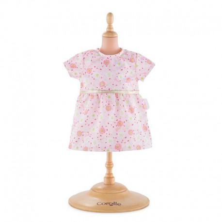 Robe rose pour poupon 30 cm