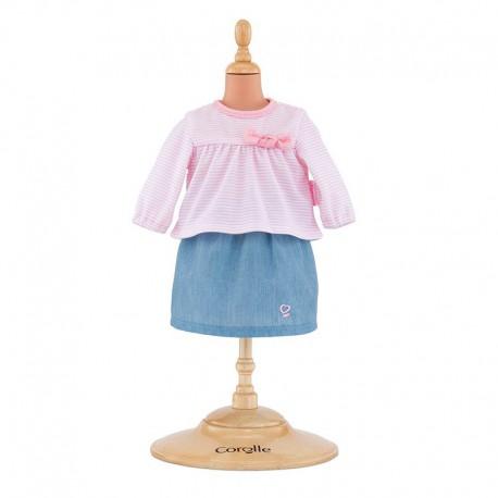 Top et jupe pour bébé 36 cm