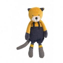 Les Moustaches : poupée chat moutarde Lulu