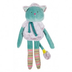 Les Pachats : poupée doudou chat bleu