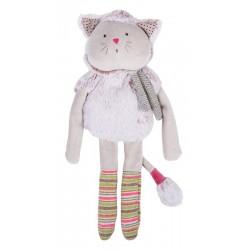 Les Pachats : poupée doudou chat gris
