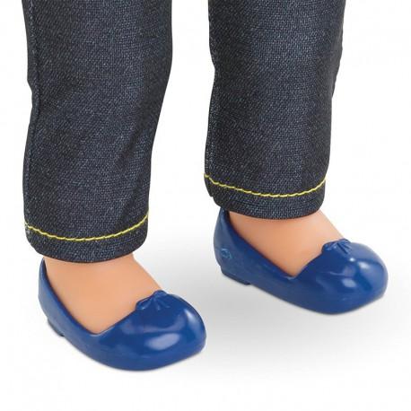 Ballerines bleu marine pour poupée ma Corolle