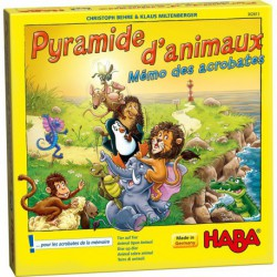 Pyramide d'animaux : jeu d'empilement et de mémoire