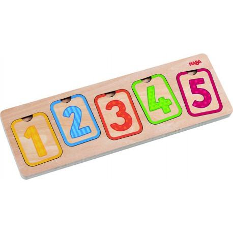 Puzzle en bois : premiers chiffres