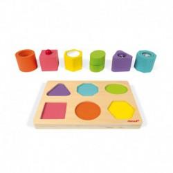 Puzzle 6 cubes sensoriels : I wood