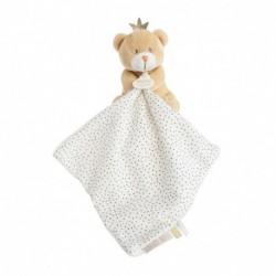 Ours petit roi : pantin avec doudou
