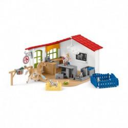 Cabinet vétérinaire avec animaux