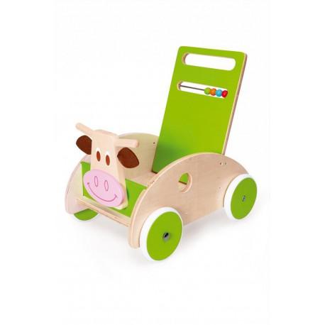 Chariot de marche : vache Marie