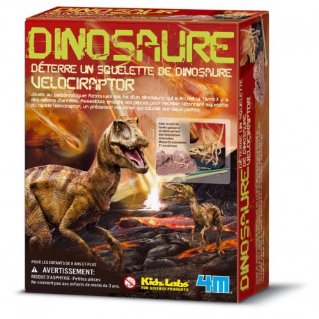 Déterre ton dinosaure : velociraptor