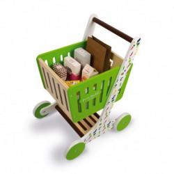 Chariot de courses en bois : green market