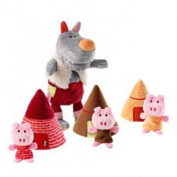 Le loup et les 3 petits cochons