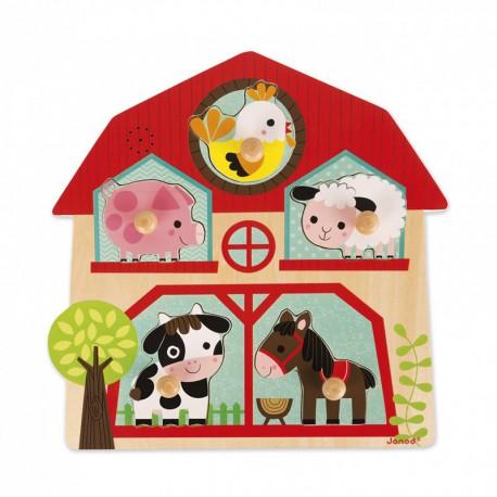 Puzzle musical : les copains de la ferme