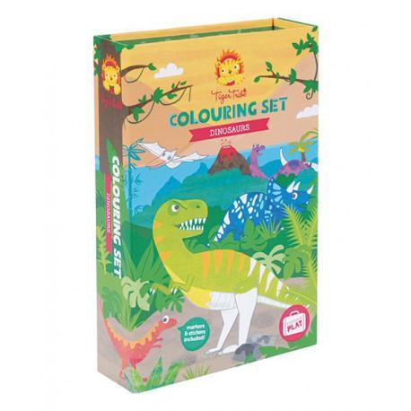 Colouring sets : dinosaur