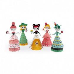 Figurine paper toys : jolie poupées