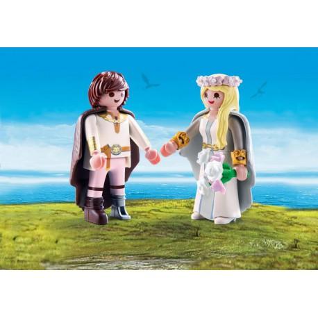 Astrid et Harold en tenue de mariage