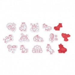 Coffret : 15 tampons unicorns stampinoo