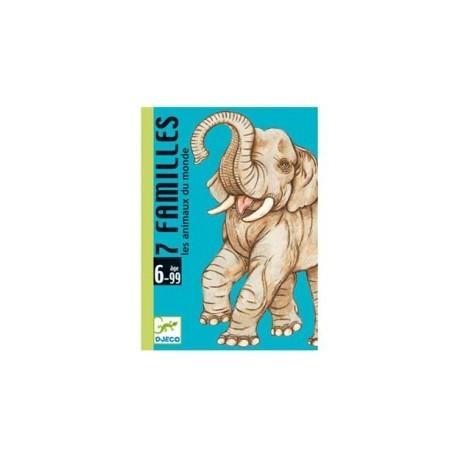DJECO - Jeux de cartes - 7 familles - Animaux du monde - DJ05102