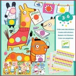 DJECO - Stickers Les Petits - Avec Des Gommettes Rondes - DJ09044