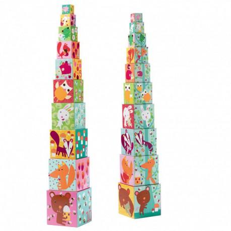 Cubes premier âge : 10 cubes forêt