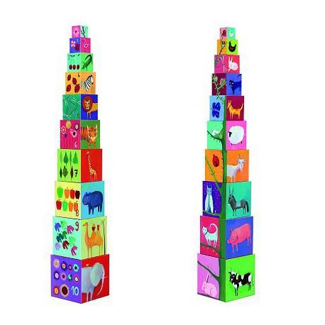 Cubes premier âge : 10 cubes nature & animaux