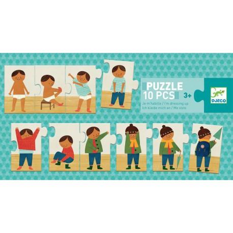 Puzzles duo-trio : je m'habille
