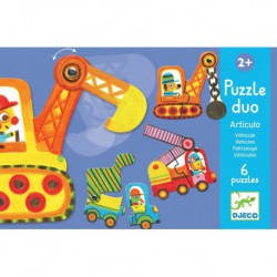 Puzzles duo : articulo véhicules