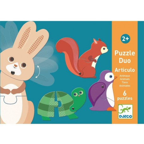 Puzzles duo : articulo animaux