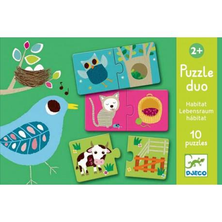 Puzzles duo : habitat
