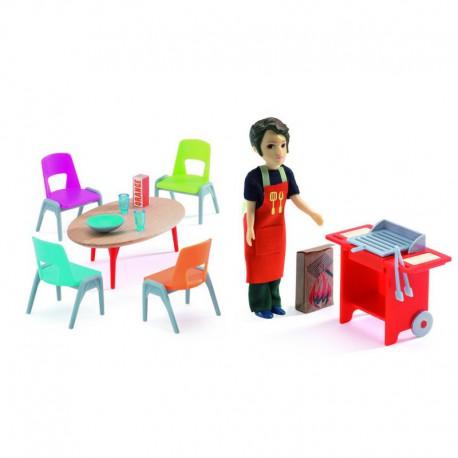 Maison de poupées : barbecue et accessoires