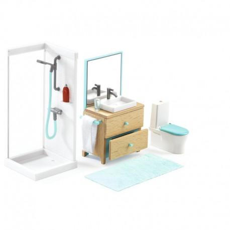 Maison de poupées : la salle de bain