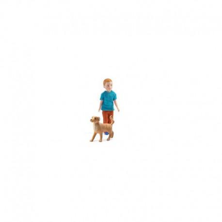 Maison de poupées : Xavier et son chien