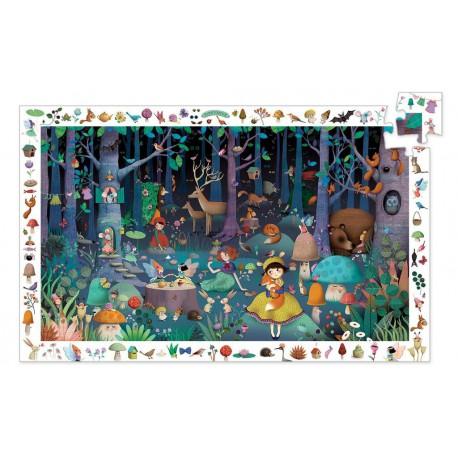 Puzzle observation : la forêt enchantée